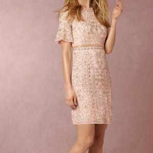 BHLDN Needle & Thread Edie Blush Dress
